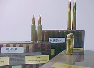 A variety of calibers available for hunting